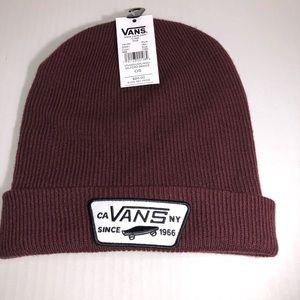 VANS MILFORD BEANIE RED/WHITE ACRYLIC CUFF HAT CAP
